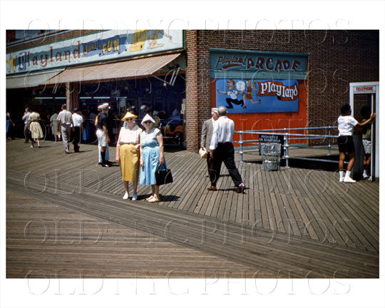 Coney Island Boardwalk 1960 Old Vintage Photos and Images