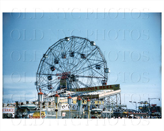 Coney Island Wonder Wheel 1958 Old Vintage Photos and Images