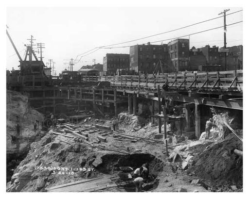 Construction at 149th Street - Sugar Hill - Manhattan - New York, NY 1915 Old Vintage Photos and Images