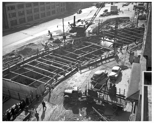 Construction of West Side Highway Old Vintage Photos and Images