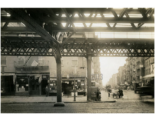 """Cooper Sq.""  & 4th Street - view east at the Bowery 1915 Old Vintage Photos and Images"