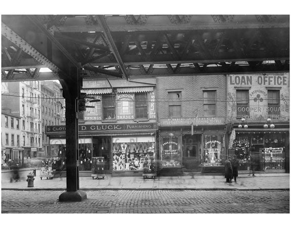 Cooper Square - east side at 5th Street 1915 Old Vintage Photos and Images