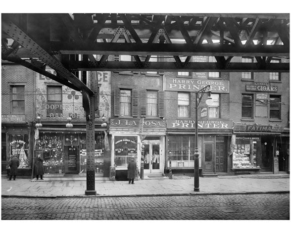 Cooper Square - east side between 4th & 5th Streets. 1915 Old Vintage Photos and Images