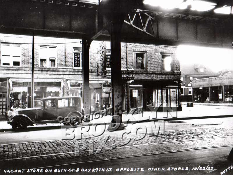 Corner 86th Street and Bay 29th Street, 1927