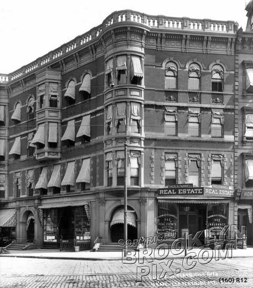 Corner of Flatbush and Sixth Avenues, 1914 Old Vintage Photos and Images