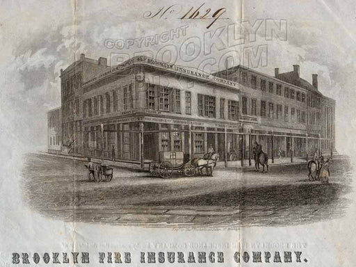 Corner of Fulton and Front Streets, 1845 Old Vintage Photos and Images