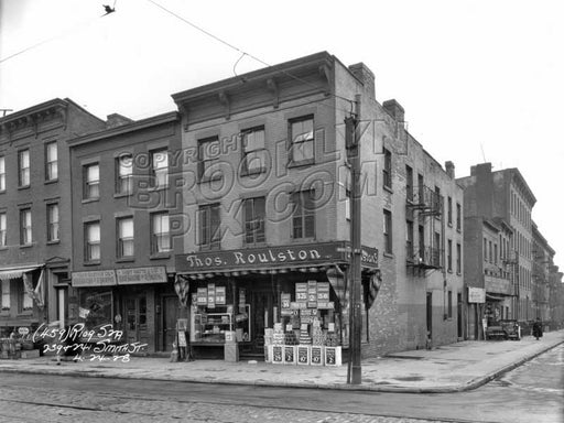 Corner of Smith and Douglass Streets, 1928 Old Vintage Photos and Images