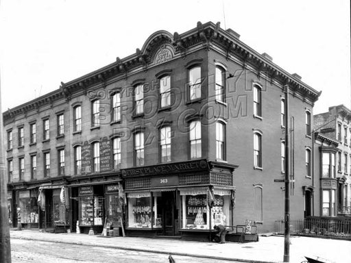 Corner of Smith and Second Streets, 1928 Old Vintage Photos and Images