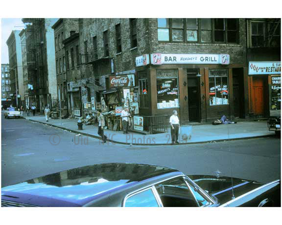corner scene on the Bowery 1960s Old Vintage Photos and Images