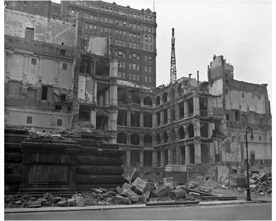 Court House at Center Street Wrecking 1958 Old Vintage Photos and Images