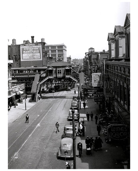 Court Street looking at Adams Street Station Old Vintage Photos and Images