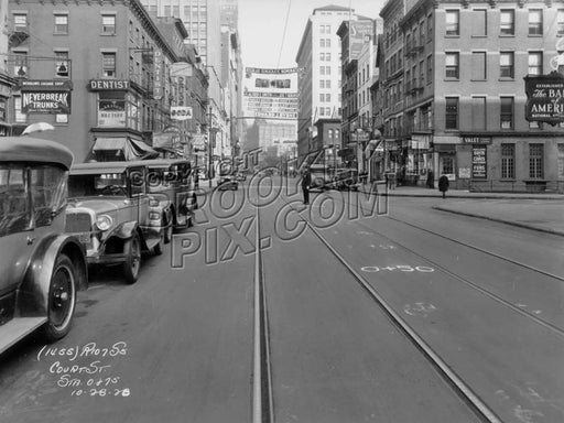 Court Street looking north to Schermerhorn Street, 1928 Old Vintage Photos and Images