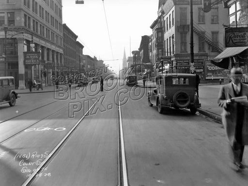 Court Street looking south to Schermerhorn Street Old Vintage Photos and Images