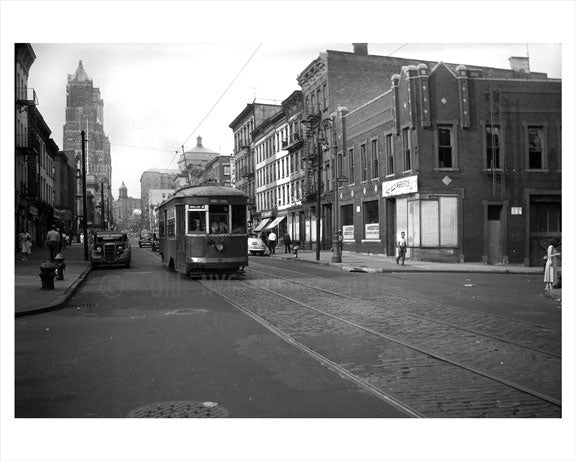 Court Street north facing Bergen Street 1949 Old Vintage Photos and Images