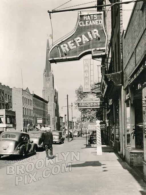 Court Street, north to Carroll Street, 1939 Old Vintage Photos and Images