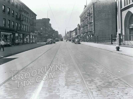Court Street, south to Wyckoff Street, 1943 Old Vintage Photos and Images