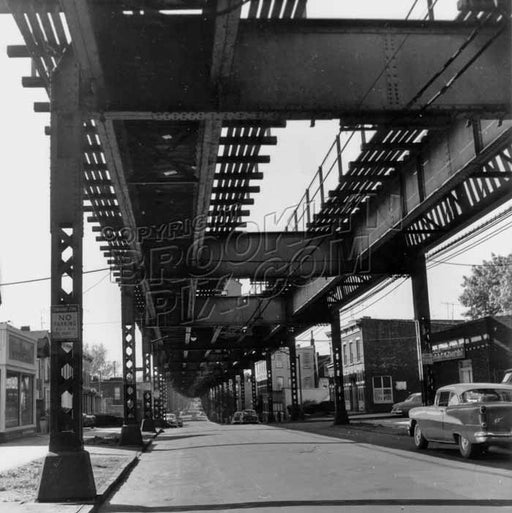 Crescent Street, looking south near Jamaica Avenue. Photo by Ron Ziel, 1959 Old Vintage Photos and Images