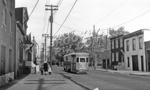 Crosstown Line trolley on Richards Street at Sullivan Street, 1941 Old Vintage Photos and Images