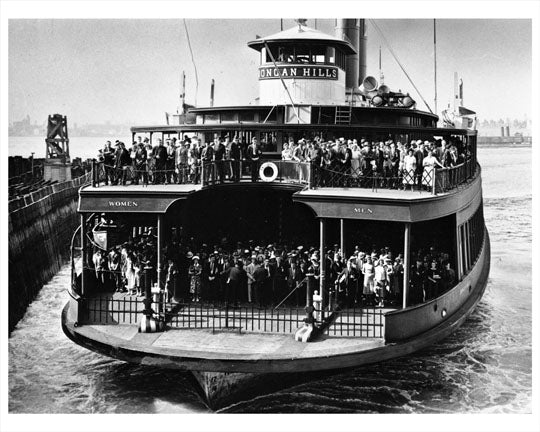 Crowded Ferry Boat in the New York Harbor Early 1910s Old Vintage Photos and Images