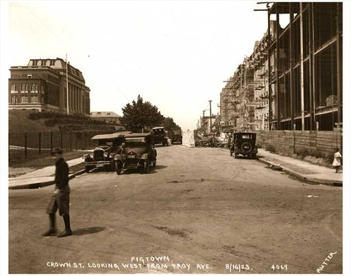 Crown Heights Crown Street 1923 Old Vintage Photos and Images