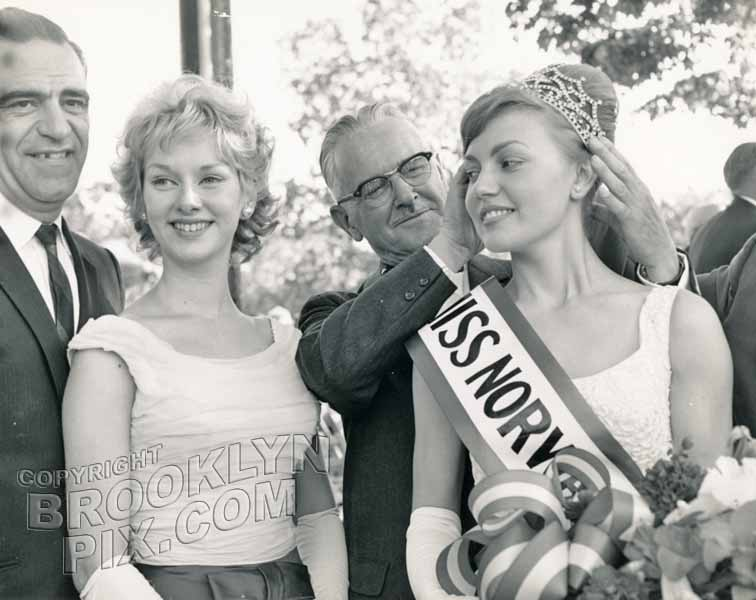 Crowning Miss Norway, the Viking Queen of 1963
