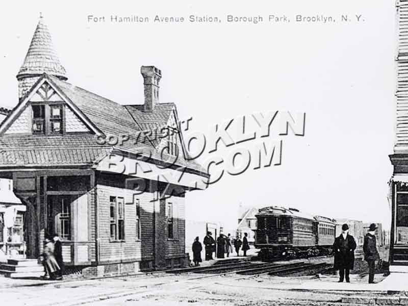 Culver Line train at Fort Hamilton Avenue [Parkway] station, ca. 1910 Old Vintage Photos and Images