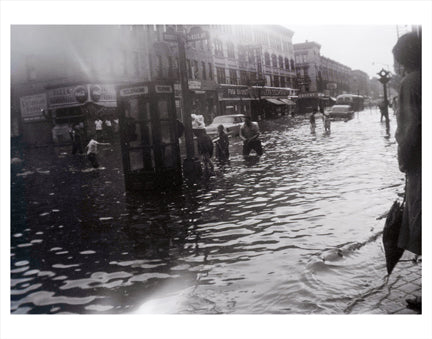 Dekalb Ave Flooded-  Bedford-Stuyvesant Brooklyn NY Old Vintage Photos and Images