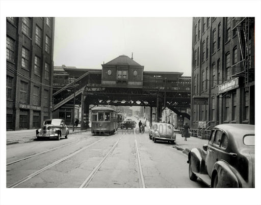 Dekalb Ave Trolley line Brooklyn NY Old Vintage Photos and Images