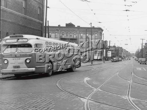 DeKalb Avenue looking south at Seneca Avenue, 1949 Old Vintage Photos and Images