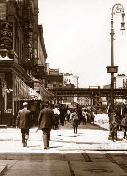 Delancey St. west at Chrystie St. Manhattan 1908 Old Vintage Photos and Images