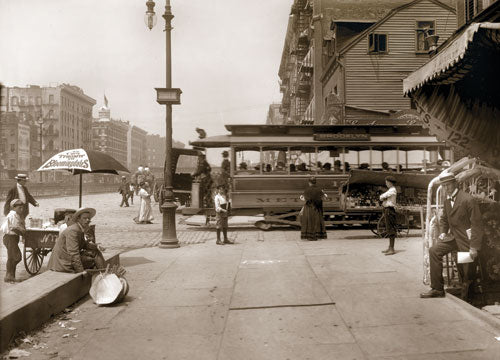 Delancey St. west to Essex Street Manhattan 1907 Old Vintage Photos and Images