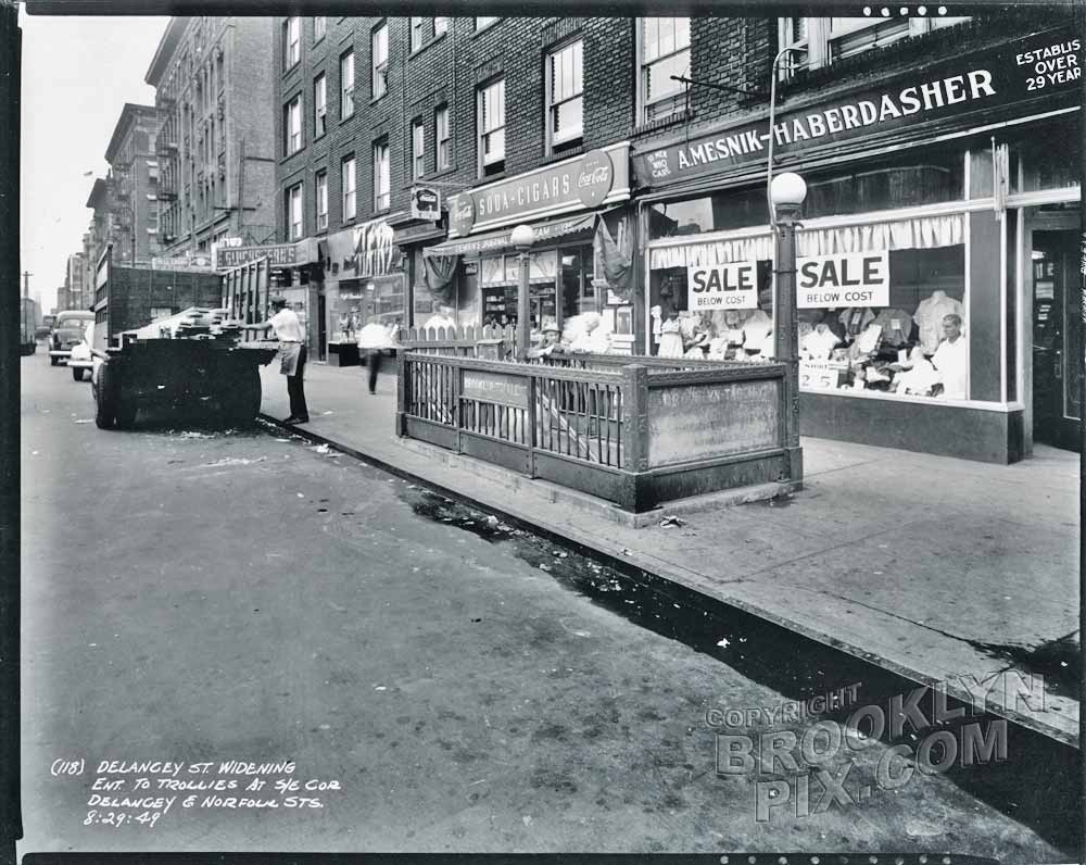 Delancey Street near Norfolk Street, 1949 Old Vintage Photos and Images