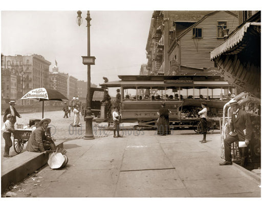 Delancey Street, west to Essex St, 1907 Old Vintage Photos and Images