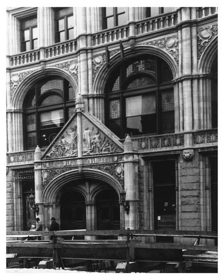 Detailed shot of the entrance to the Establishment at  4th Avenue & 27th Street Gramercy Park, Manhattan, NY 1900 Old Vintage Photos and Images