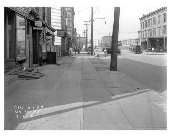 Devoe & Bushwick Avenue  - Williamsburg - Brooklyn, NY 1916 D1 Old Vintage Photos and Images