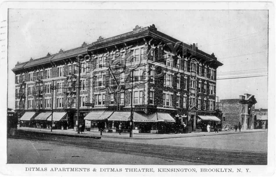 Ditmas Apartments & Ditmas Theater, 1912 Old Vintage Photos and Images
