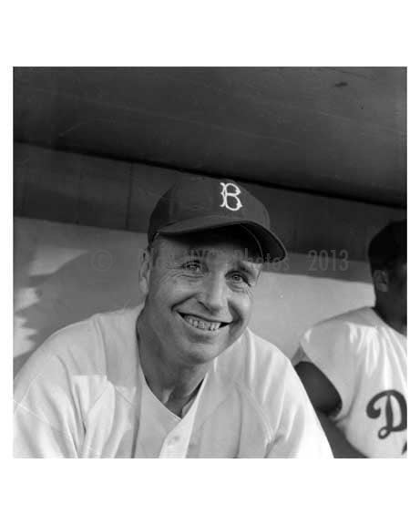 Dodger Manager Walt Alston Ebbets Field 1957 Brooklyn NY