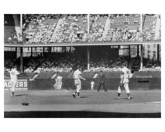 Dodgers taking the field 1957 - Ebbets Field - Brooklyn, NY
