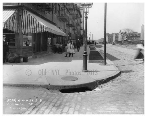 Dominick Street - Western edge of Soho - July 1916- sandwiched between Greenwich Village,  Soho & Tribecca Old Vintage Photos and Images
