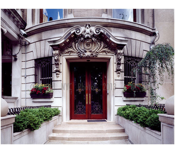 Doorway on Manhattan's Upper East Side Old Vintage Photos and Images
