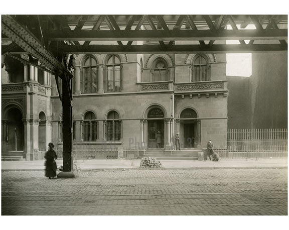 """Dry Dock Savings Bank"" Bowery - East Side - between 2nd & 3rd Streets Nov 1915 Old Vintage Photos and Images"