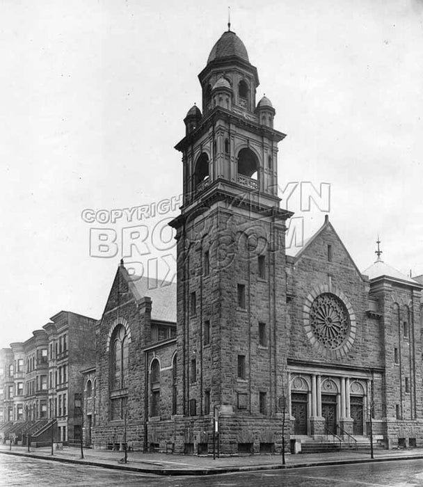 Duryea Presbyterian Church, southeast corner of Sterling Place and Underhill Avenue, 1916 Old Vintage Photos and Images
