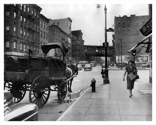 E. Broadway Manhattan Bridge 1949 Old Vintage Photos and Images