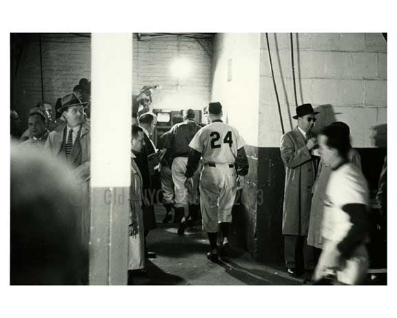 Early 1950's Brooklyn Dodgers bummed after losing a game