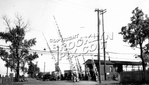 East 105th Street grade crossing on the 14th Street-Canarsie Line, c.1950 Old Vintage Photos and Images