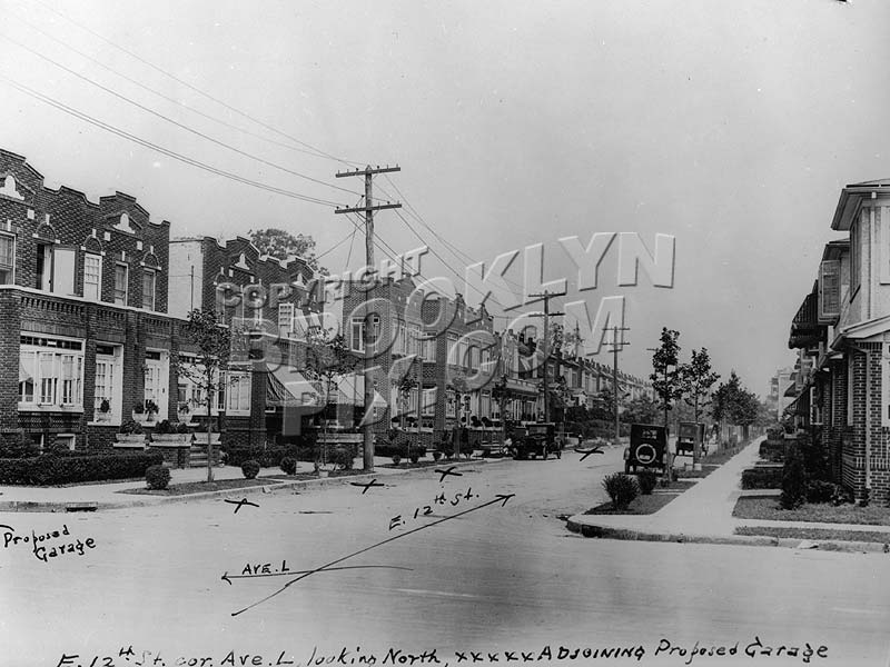 East 12th Street from Avenue L, 1920s Old Vintage Photos and Images