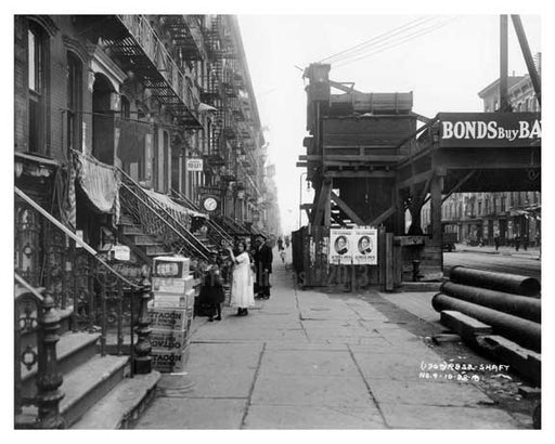 East 14th Street East Village Manhattan, NY  1918 East Village Old Vintage Photos and Images