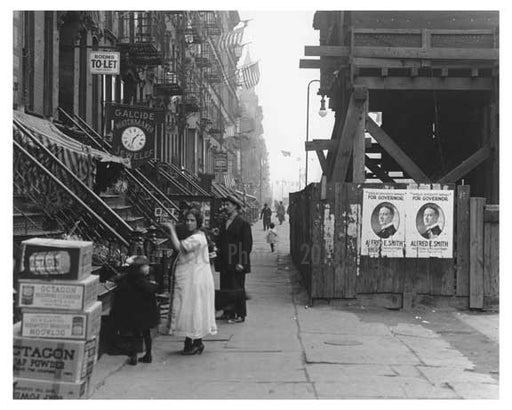 East 14th Street East Village Manhattan, NY  1918 A Old Vintage Photos and Images