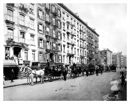 East 15th Street  Gramercy Park  - Downtown Manhattan 1910 NYC Old Vintage Photos and Images