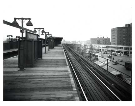 East 177th St Train Platform Bronx Old Vintage Photos and Images